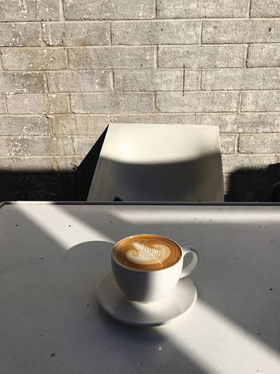 Espresso Arizona Cup Mug Drink Coffee Coffee Cup Food And Drink The Still Life Photographer - 2018 EyeEm Awards Coffee - Drink Refreshment No People Saucer Still Life Table Wall - Building Feature Frothy Drink Hot Drink Freshness Sunlight Crockery Indoors  Shadow Autumn Mood