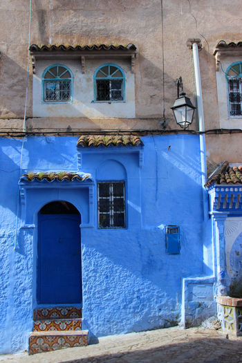 City Cityscape Doors Living Travel Travel Photography Wall Adventure Arabic Architecture Blue Building Exterior Built Structure Colour Of Life Colourfull Day Door Doorway House No People Outdoors Street Travel Destinations Wall - Building Feature Window