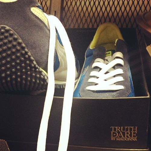 Should Nordstrom be putting a pair of Puma's in a box that says Truth or dare by @madonna :)