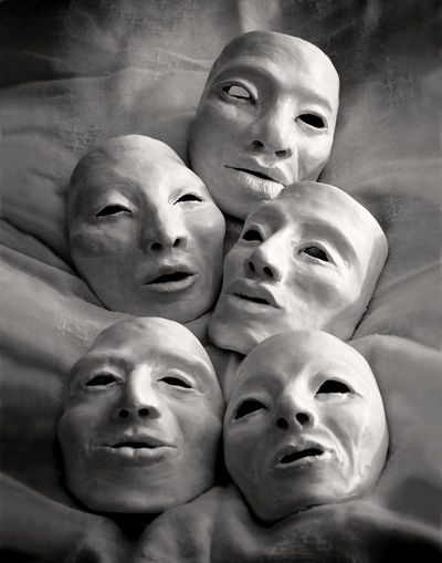 Group of faces together