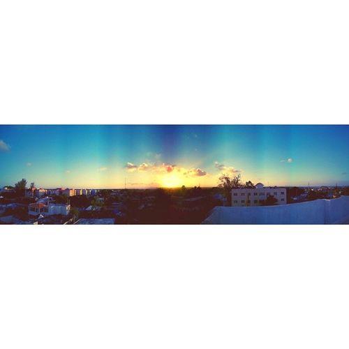PanoDomingo Panorama Pano Sunset Sun sky clouds streetphoto