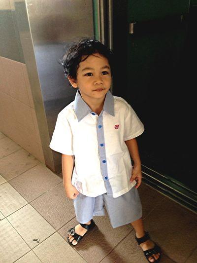 Muhd Ihsan - first day of school