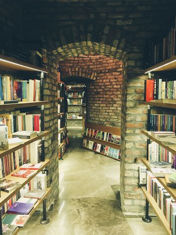 Architecture Built Structure Indoors  No People Archway Books Wall Bookstore Bookshelf Booklover Bookstagram Bookshop