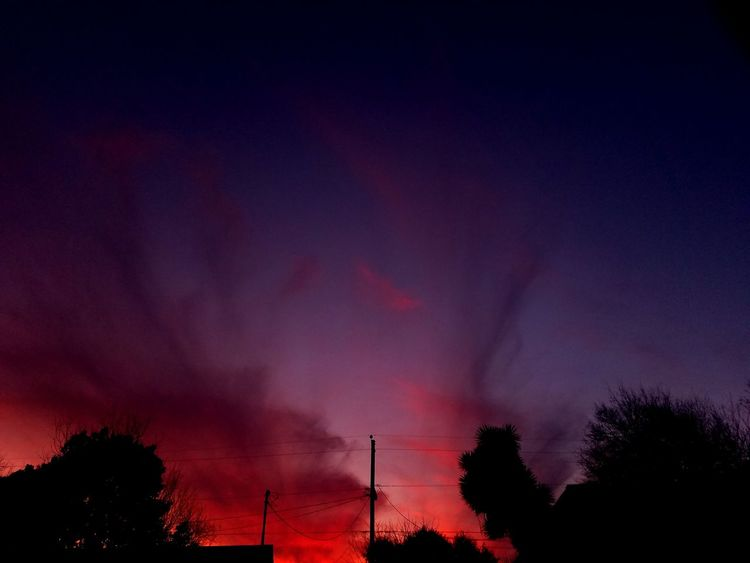 Burning Skies Clouds And Sky Night Nature Beauty In Nature Outdoors Sunset