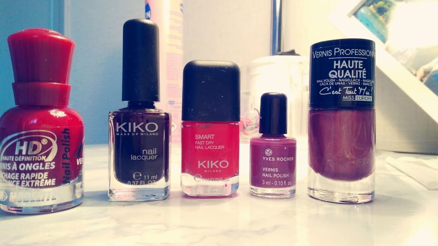 Nails Kikomilano Yvesrochernails Yvesrocher Purple Favorite Smart Red
