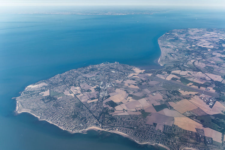 Broadstairs Coastline France Kent Margate Ramsgate Aerial View Architecture Beauty In Nature Building Building Exterior Built Structure City Cityscape Day EasyJet Environment Idyllic Land Landscape Nature No People North Sea Outdoors Scenics - Nature Sea Sky View Into Land Water