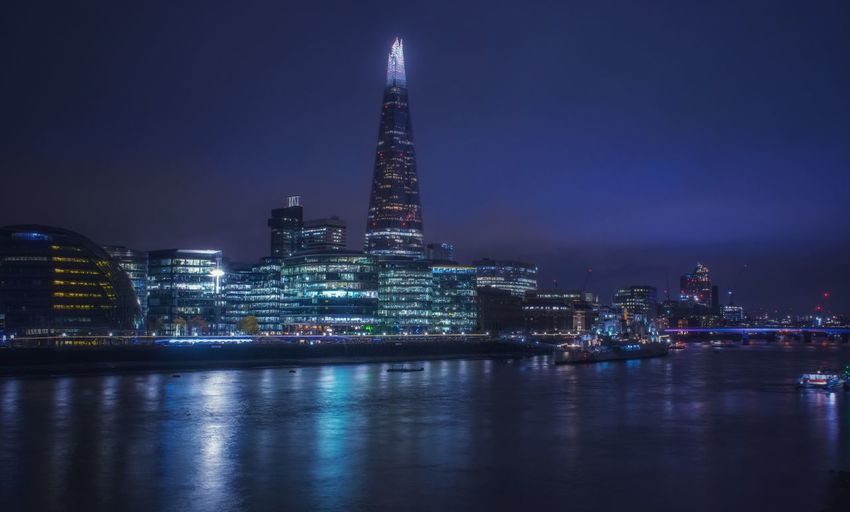 London city at night