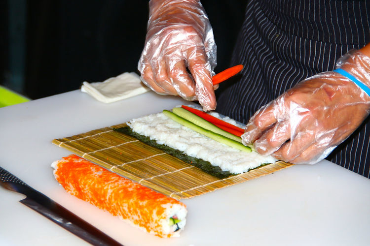 What's For Dinner? Sushi Share Your Adventure Make Sushi Hands At Work Food Fish Fisch