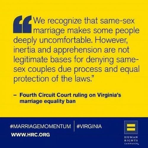 VAMovesForward Gova Marriageequality Marriage4all LGBTQ SameSexMarriage HumanRights ItsAboutTime VAIsForLovers