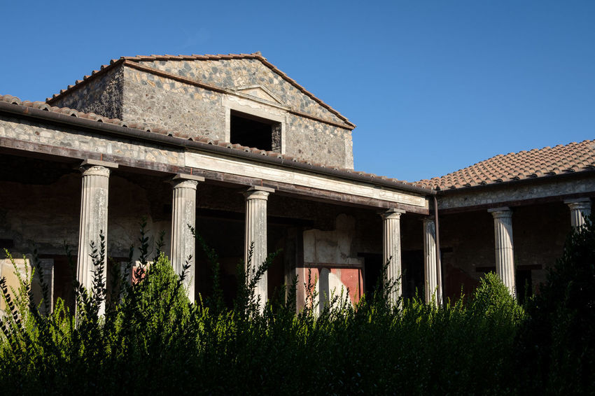 Pompeii - 2018 23mmf2 FUJIFILM X-T2 Pompeii  Roman Ruins Romans Ruins Abandoned Architectural Column Architecture Building Building Exterior Built Structure Clear Sky Damaged Day Fujifilm Fujifilm_xseries Fujixseries History House Low Angle View Nature No People Old Outdoors Plant Relic Ruined Sky Sunlight Tree Window