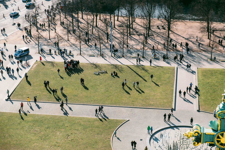 Berlin Dome  Berliner Dom Crowd Day Field Grass Group Of People High Angle View Large Group Of People Leisure Activity Lustgarten Men Museumisland Nature Outdoors Panoramic Plant Playing Real People Soccer Sport Team Sport Tree