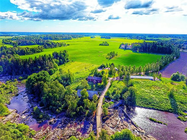 Aerial View Aerialphotography Landscape_Collection Green Color Summertime Sunlight Lieto Nautelankoski Flying High Lost In The Landscape