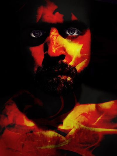 Messing around with Photofox on iPhone ShotOnIphone Shotoniphonexsmax IPhoneography Me JustMe Portrait Indoors  One Person Headshot Paint Red Real People Spooky Dark Human Face Front View Studio Shot Lifestyles Looking At Camera Close-up Human Body Part Black Background Face Paint Digital Composite Adult