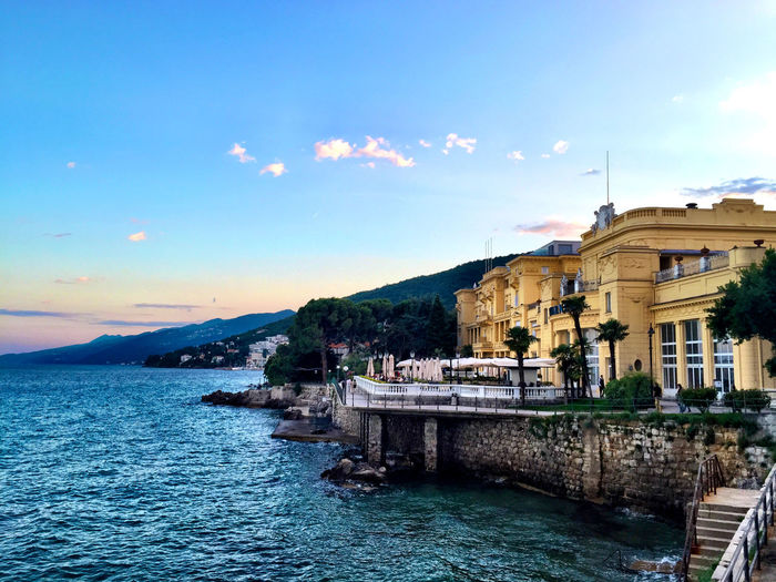 Hotel kvarner opatija by sea against sky