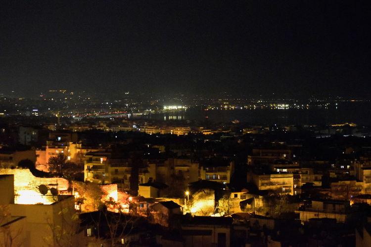 City Night Illuminated High Angle View Outdoors Thessaloniki GREECE ♥♥ Hidht
