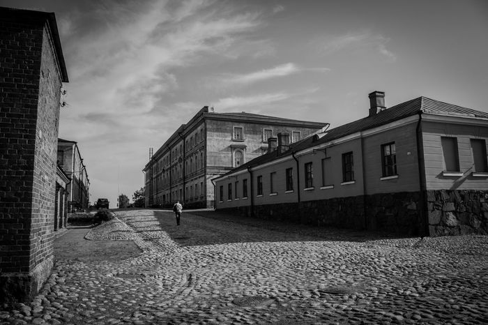Lonely Walker Finland Soumenlinna Architecture Building Exterior Built Structure Sky The Way Forward Outdoors Day