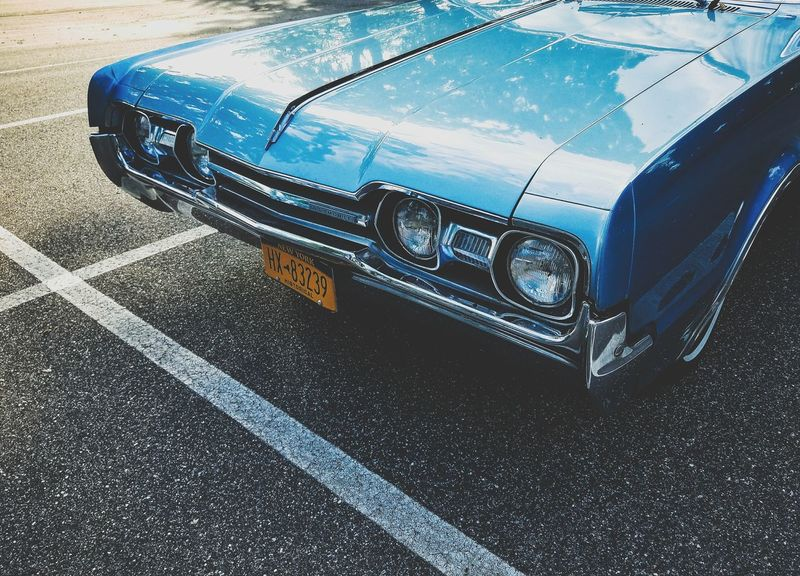 1967 Oldsmobile Cutlass Transportation Car High Angle View Mode Of Transport Land Vehicle Day Road No People Outdoors Close-up New York The Week On EyeEm Long Island Oldsmobile Classic Car Car Park Cutlass American Cars Cars