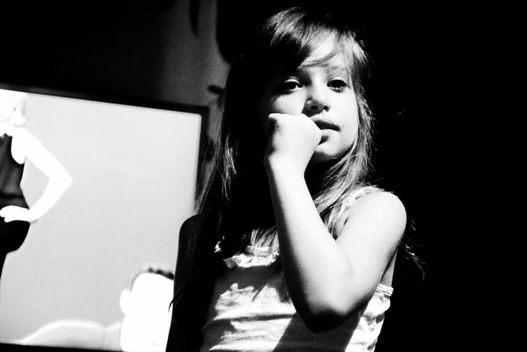 Little Girl Zuzanna Black & White
