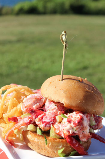 Lobster Lunch New England  Bread Bun Close-up Day Dinner Fast Food Focus On Foreground Food Food And Drink Freshness Lobster Roll Meal Meat No People Outdoors Plate Ready-to-eat Sandwich Snack Temptation Unhealthy Eating