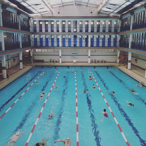 Swimming pool in the center of Paris. France Indoors  Paris Sports Photography Swimming Swimming Lane Marker Swimming Pool Workout