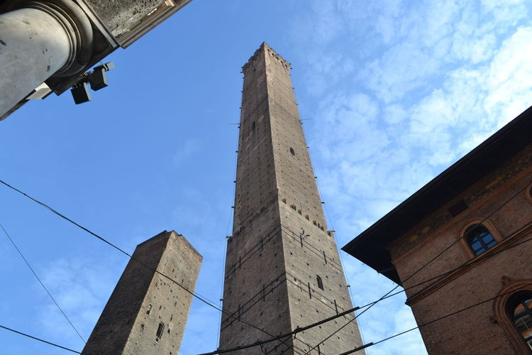 Architecture Bologna Emilia Romagna Old Town Architecture Blue Building Exterior Built Structure Day History La Torre Degli Asinelli Landmark Low Angle View No People Old Town Square Outdoors Point Of View Sky Torre View From Above