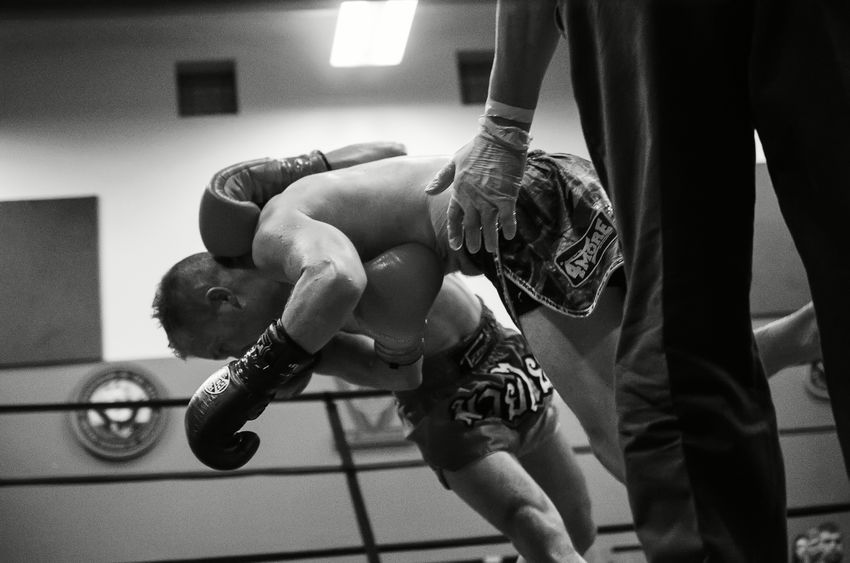 Elite Standup Strikers event in Springfield, Oregon, Feb. 13th 2016, featuring Ming Freeman and Jake Ramsey in the main event fight. Blackandwhite Boxing Fight MuayThai Occupation Ringside Sports Photography Thaiboxing  Telling Stories Differently