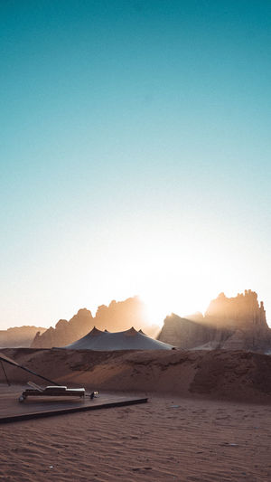 Scenic view of alula against the backdrop