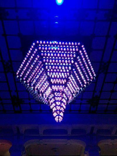 Art Aquarium2015 Lampadaire Glass Art Cups LEDLights