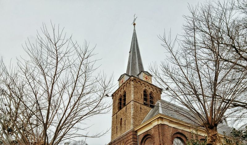 Church Architecture Built Structure Building Exterior Religious  Religion Religious Architecture Tree Trees Branch Bare Tree Day Cloudy Moody Sky Springtime LadyphotographerofthemonthUrban Spring Fever Showcase April