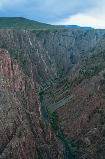 Scenics - Nature Mountain Tranquil Scene No People Water Black Canyon Of The Gunnison National Park Colors