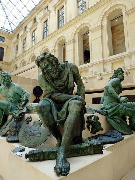 Statue Sculpture Art And Craft Tourism Travel Destinations History Built Structure Mythology Arts Culture And Entertainment Architecture Louvre Paris, France  Titans Hobby Photography EyeEmNewHere