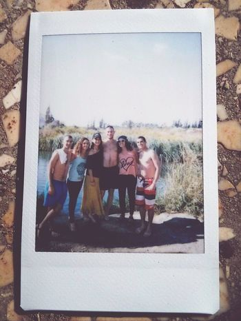 a Photo from a Poloroid Camera With My Friends :)