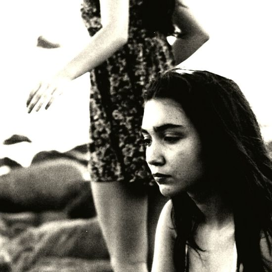 Black And White Young Adult Beauty Fashion Archival Old-fashioned Young Women One Young Woman Only Only Women Human Body Part Adult Person One Woman Only People Vertical Close-up One Person Day Outdoors Rowan Blanchard GMW Portrait
