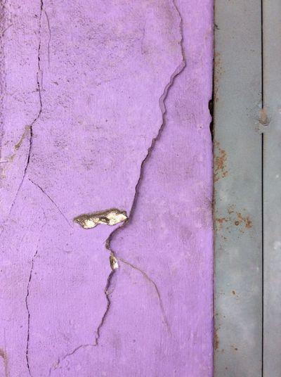 Purple painted street wall Cracks In Plaster Chinatown Metal Doorframe Malaysia City Landscape Dec Grey Morning Grey Doorframe rusting metal