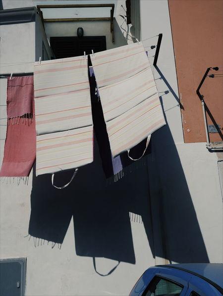 Houses Walls Detail Shadow Cetara Amalfi  Italy Minimalism Pastel Colours Pastels