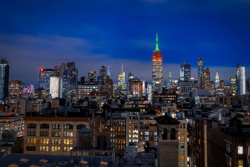 Midtown manhattan from a rooftop