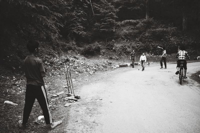 Check This Out Taking Photos Street Photography Sport Sports Photography Sports Streetcricket Cricket! Kids Playing Peopletogether evening Black & White B&w Photography EyeEm Best Shots Shimla Himalayas Himachalpradesh Forestwalk India Hidden Gems