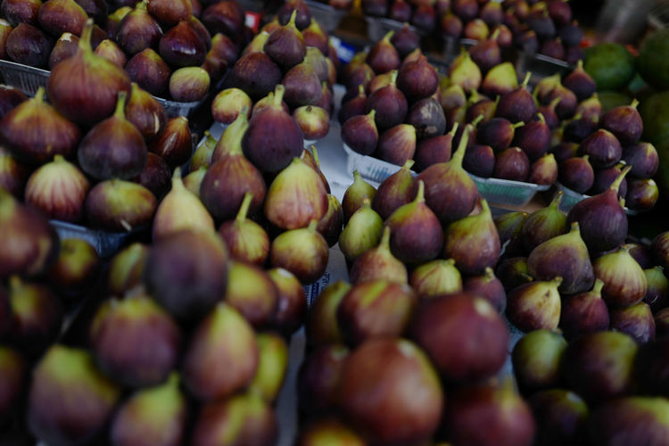 Full frame shot of figs for sale at market stall