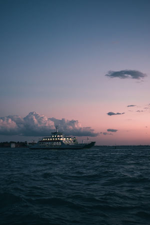 Beauty In Nature Cloud - Sky Dusk Horizon Horizon Over Water Industry Nature Nautical Vessel No People Outdoors Scenics - Nature Sea Sky Sunset Tranquil Scene Tranquility Transportation Venice Water Waterfront