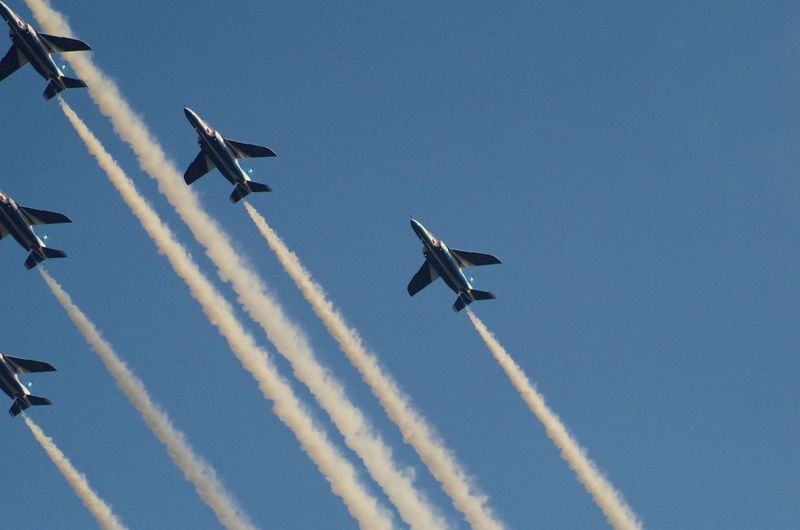 昨日の空 / yesterday's sky ブルーインパルス展示飛行。 Japan Air Force Aerobatic team The Blue impulse. Sky Blue Impulse The Explorer - 2014 EyeEm Awards
