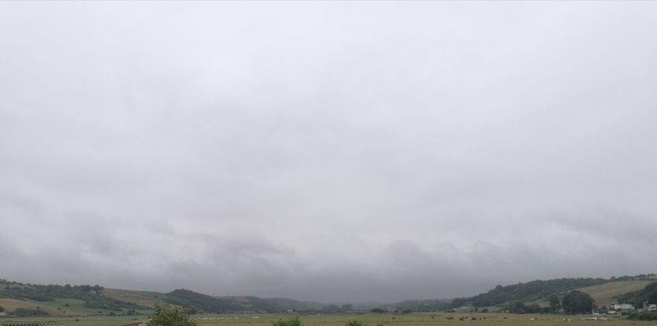 Water Mountain Fog Rural Scene Thunderstorm Storm Cloud Sky Landscape Cloud - Sky Grass