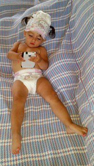 Babay Diaper Children Faces Of EyeEm Innocence Cell Phone  Child Funny Girl Little Girl Smiling Baby Girl