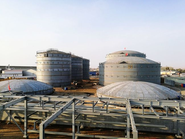 Tank Farm Oil Storage Metal Industry City Factory Space Business Finance And Industry Steel Mill Sky Architecture Building Exterior