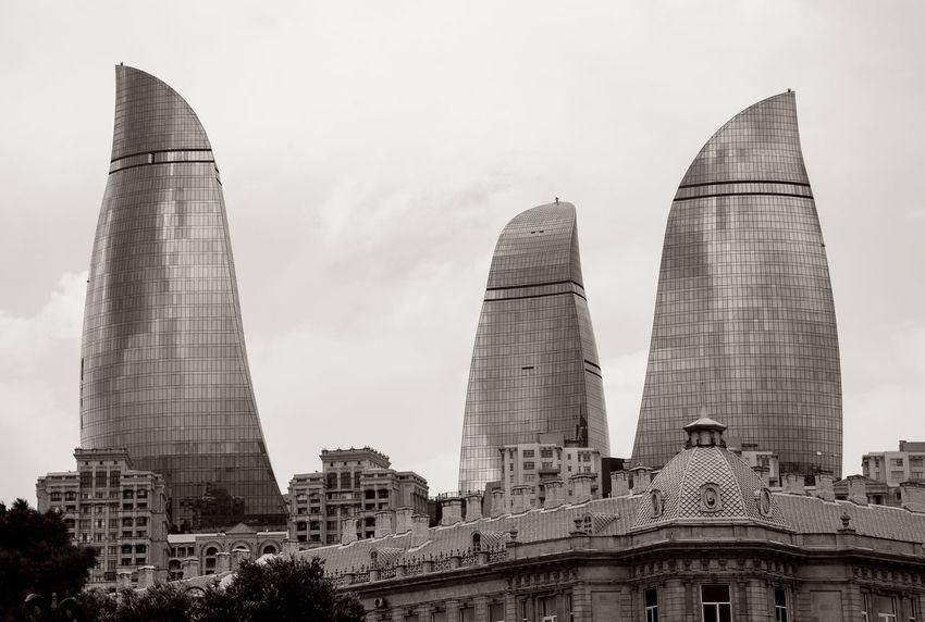 Flame Towers, Baku Baku Flame Towers Architecture Azerbajan Azerbaycan Baku Azerbaijan Baku Landmark Building Exterior Built Structure Day Landmark Landmarkbuildings Landmarktower No People Outdoors Sky Tourism Destination Tourist Destination Travel Destination Travel Destinations