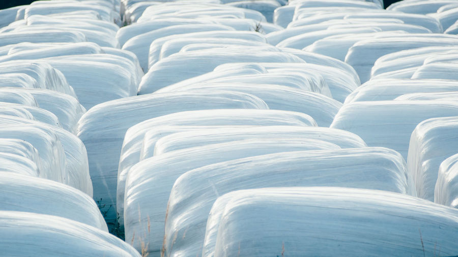 Full Frame Shot Of Huge Marshmallows