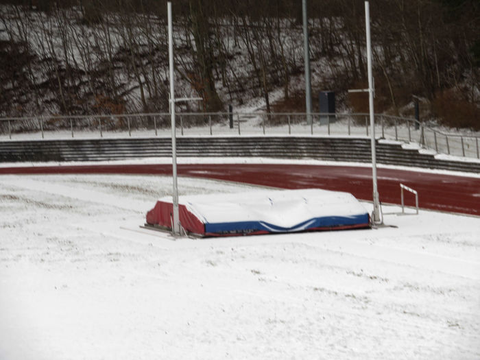 track and field stadium in the snow Snow White Outdoors Nature Cold Temperature Track And Field Stadium Cold