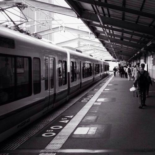 The walk to Osaka Station Osaka Station Japan Subway Black & White