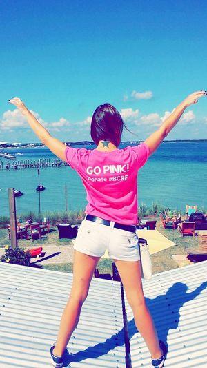 Breast Cancer Awareness Onefishtwofishredfishbluefish Ocean Life Feeling Free Go Pink