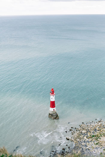 Beach Beachy Head Brighton Lost In The Landscape Been There. Lighthouse_lovers My Year My View Nature Nautical Vessel No People Outdoors Sea Sky Travel Destinations Water Red And White United Kingdom White Cliffs  White Cliffs Of Dover Eastbourne Eastbourne Pier Dover Place Of Heart Be. Ready.