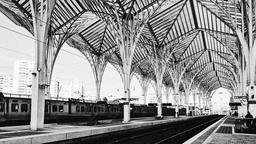 Calatrava designed railway station new part of Lisbon - Portugal